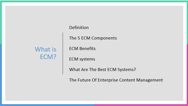 Enterprise content management agenda